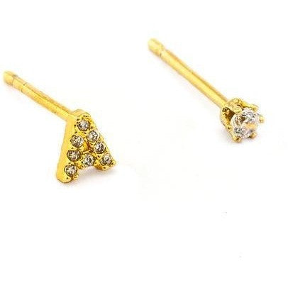 tai | cz initial crystal earring - KISS AND MAKEUP