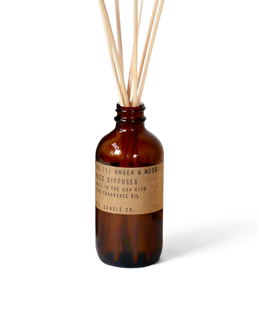p.f candle co | amber & moss - reed diffuser