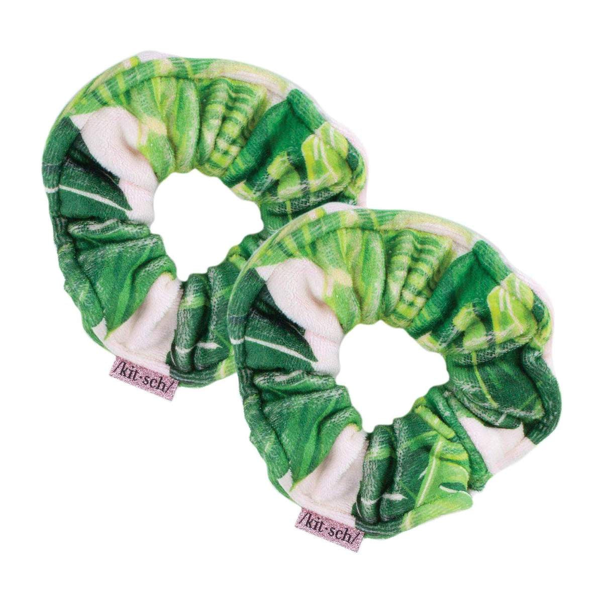 kitsch | microfiber towel scrunchies - palm - KISS AND MAKEUP