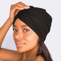 kitsch | satin lined - jersey sleep beanie - KISS AND MAKEUP