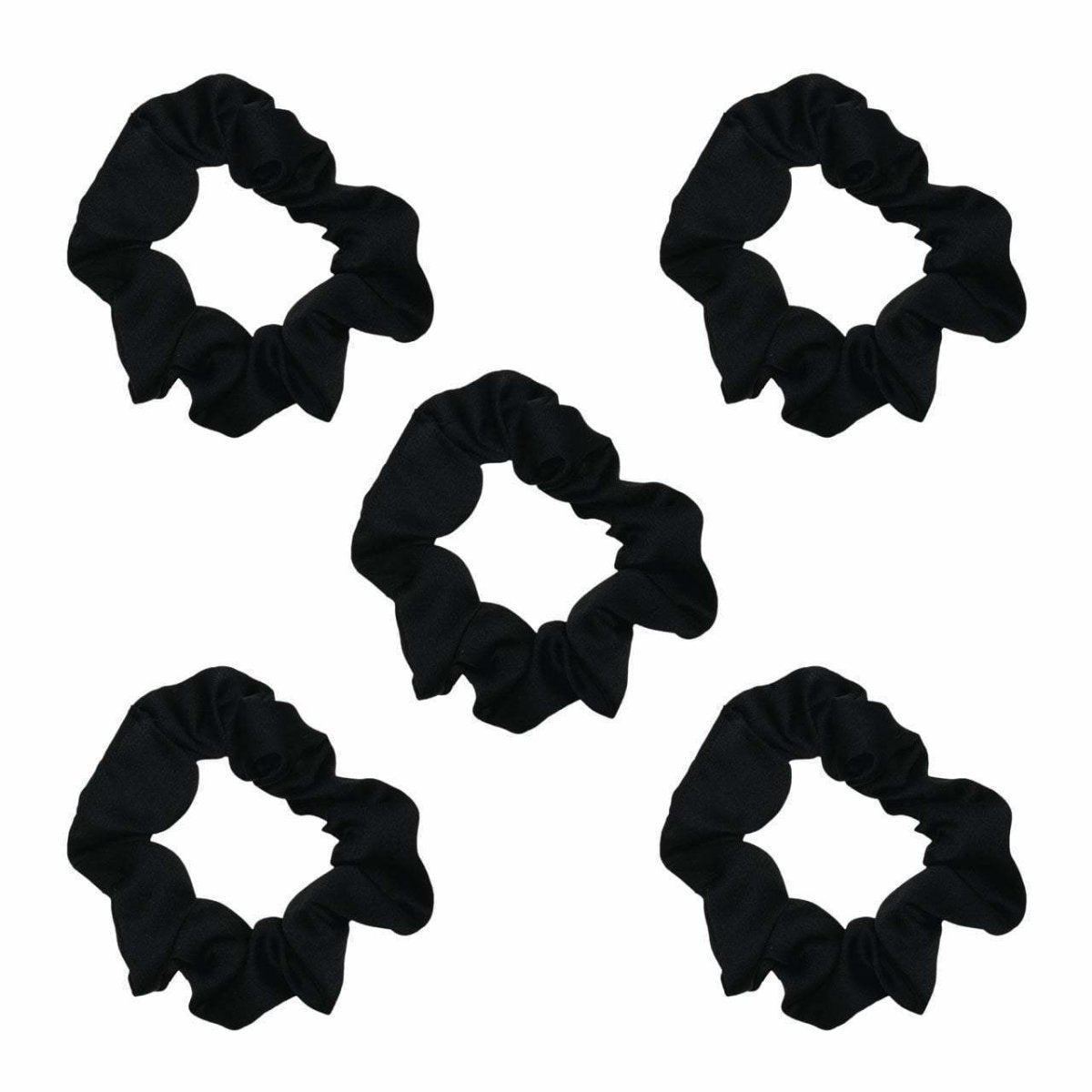 kitsch | satin sleep  scrunchies - black - KISS AND MAKEUP
