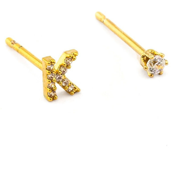 tai - cz initial crystal earring[product_type ]tai rittichai - Kiss and Makeup