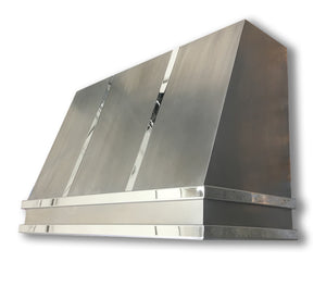 Non Directional Stainless Range Hood - Mirrored Bands