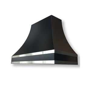 Model E101 Transitional Black Powder Coated Range Hood