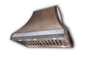 Light Patina Zinc Range Hood - Zinc Accents