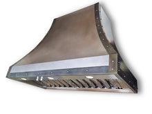 Load image into Gallery viewer, Light Patina Zinc Range Hood - Zinc Accents
