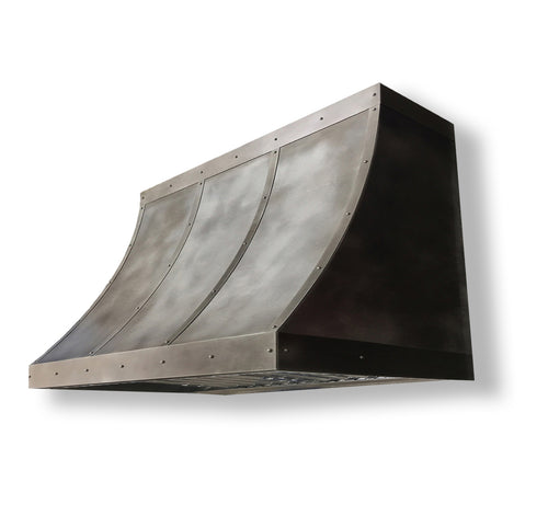 Model E102 Traditional Zinc Range Hood