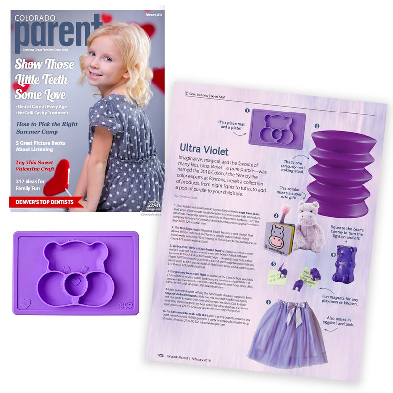 ezpz, the original silicone kids plate, featured in Colorado Parent