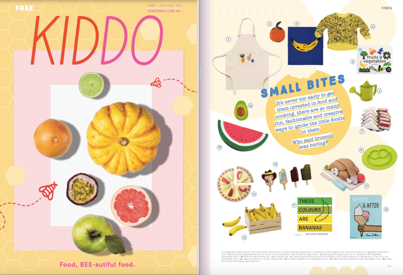 ezpz, the original silicone kids plate, featured in Kiddo Magazine