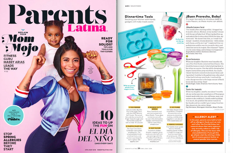 ezpz, the original silicone kids plate, featured in Parents Latina Magazine