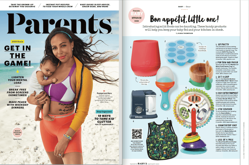 ezpz, the original silicone kids plate, featured in Parents 2019