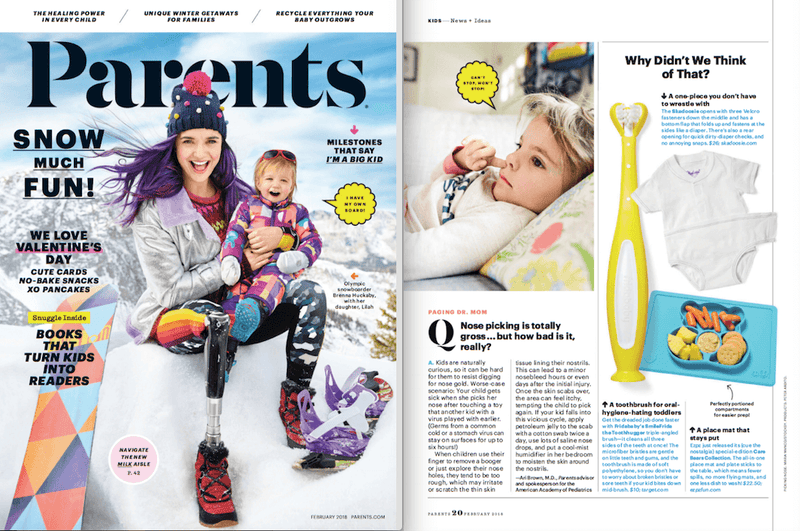 ezpz, the original silicone kids plate, featured in Parents Magazine