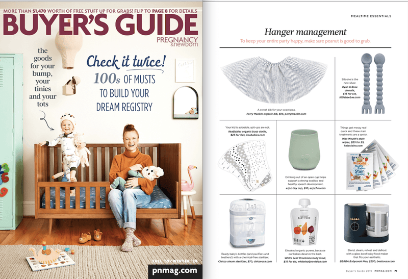 ezpz, the original silicone kids plate, featured in Pregnancy & Newborn Buyer's Guide 2019