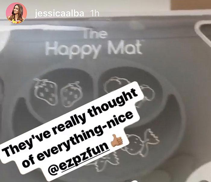 ezpz products, loved by celebrity Jessica Alba
