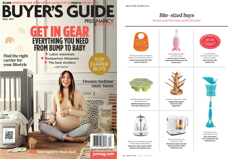 ezpz, the original silicone kids plate, featured in Pregnancy & Newborn Registry Guide