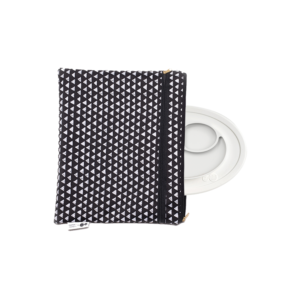 Mini Mat + Portfolio Bundle by ezpz / The Original All-In-One Silicone Plates & Placemats that Stick to the Table