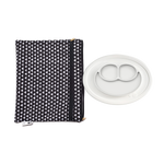 Mini Mat + Portfolio Bundle (5-Pack) by ezpz / The Original All-In-One Silicone Plates & Placemats that Stick to the Table