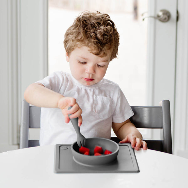 Mini Utensils by ezpz / The Original All-In-One Silicone Plates & Placemats that Stick to the Table