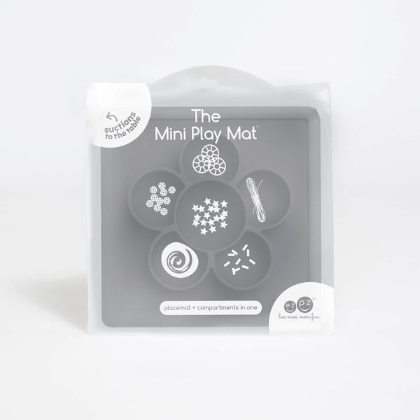 Mini Play Mat by ezpz / The Original All-In-One Silicone Plates & Placemats that Stick to the Table
