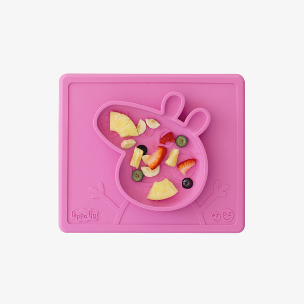 Peppa Pig™ Mat by ezpz / The Original All-In-One Silicone Plates & Placemats that Stick to the Table