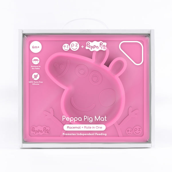 Peppa Pig Mat (5-pack) by ezpz / The Original All-In-One Silicone Plates & Placemats that Stick to the Table
