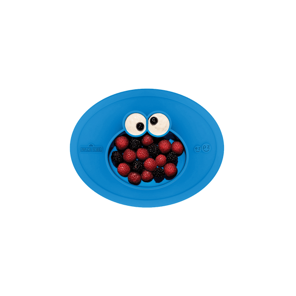 Sesame Street® Cookie Monster Mat (5-pack) by ezpz / The Original All-In-One Silicone Plates & Placemats that Stick to the Table
