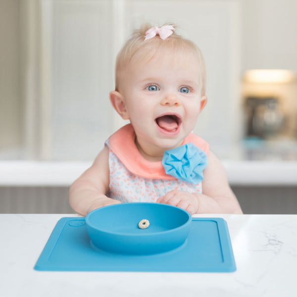 Mini Bowl (5-Pack) by ezpz / The Original All-In-One Silicone Plates & Placemats that Stick to the Table