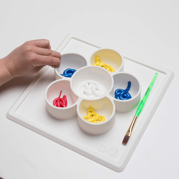 Mini Play Mat (5-Pack) by ezpz / The Original All-In-One Silicone Plates & Placemats that Stick to the Table