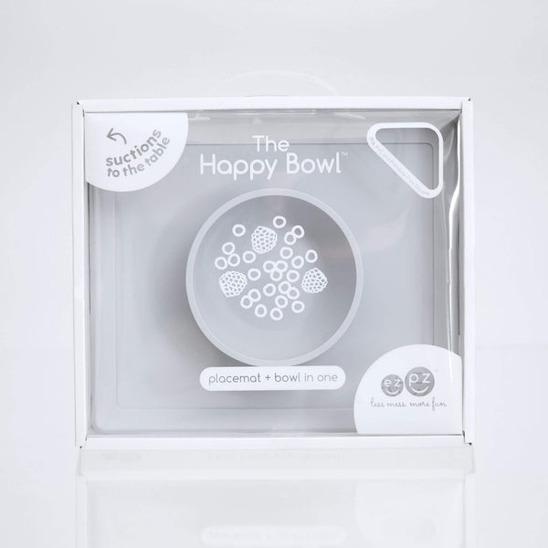 Happy Bowl by ezpz / The Original All-In-One Silicone Plates & Placemats that Stick to the Table