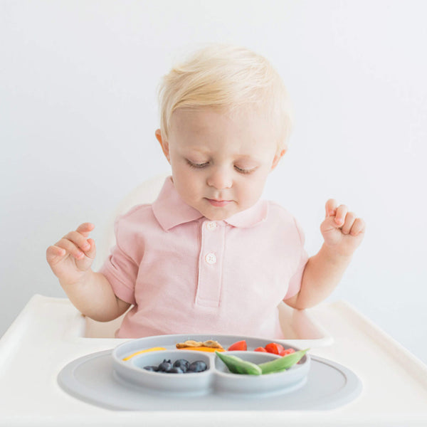 Mini Mat by ezpz / The Original All-In-One Silicone Plates & Placemats that Stick to the Table