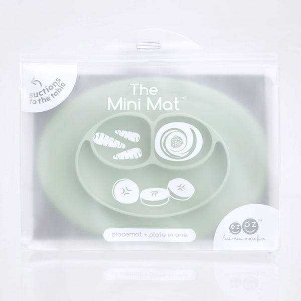 Mini Mat (5-Pack) by ezpz / The Original All-In-One Silicone Plates & Placemats that Stick to the Table