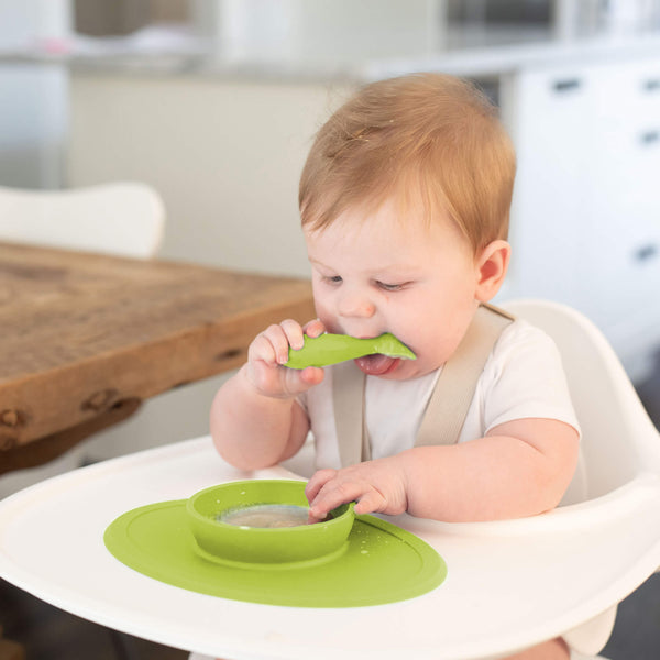 Tiny Spoon Twin-Pack by ezpz / The Original All-In-One Silicone Plates & Placemats that Stick to the Table