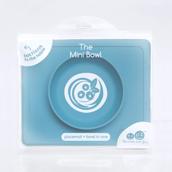 Mini Bowl by ezpz / The Original All-In-One Silicone Plates & Placemats that Stick to the Table