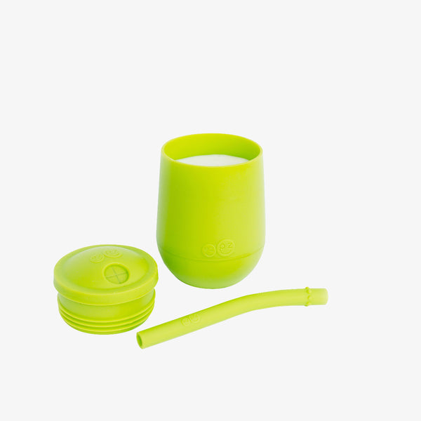 Mini Cup + Straw Training System by ezpz / The Original All-In-One Silicone Plates & Placemats that Stick to the Table