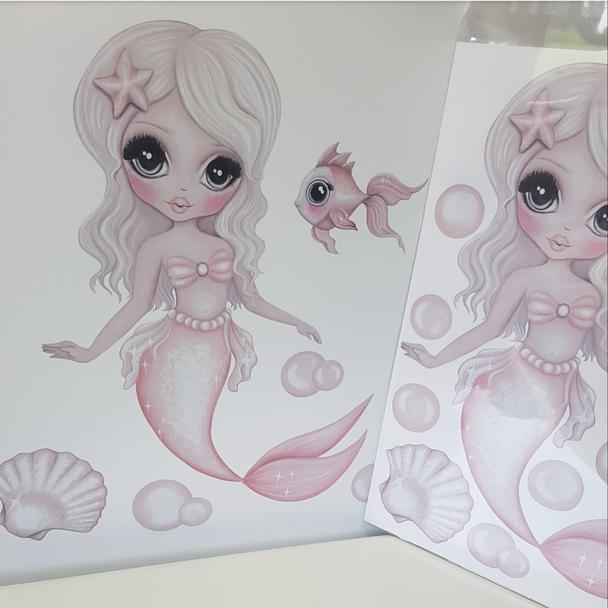Wall Decals – A4- Jewel Mermaid