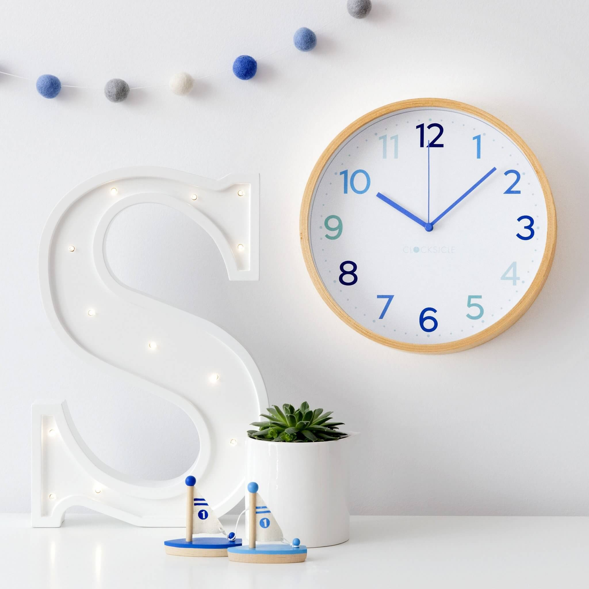Kids Multi Blue Clock