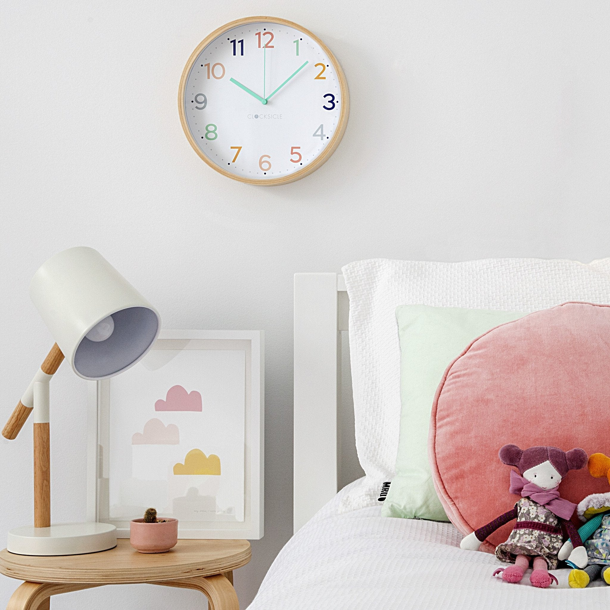 Kids Rainbow Clock - now $75