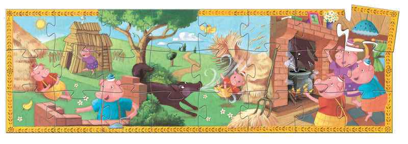 Djeco Puzzle - The three little pigs 24pc Puzzle