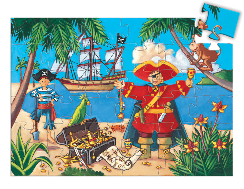 DJECO Pirate and Treasure Silhouette Puzzle - 36 pce 4+ years