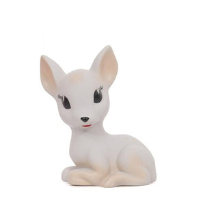 LAPIN AND ME FAWN / DEER LED BATTERY OPERATED LAMP - VELVET GREY / PALE PINK SPOTS
