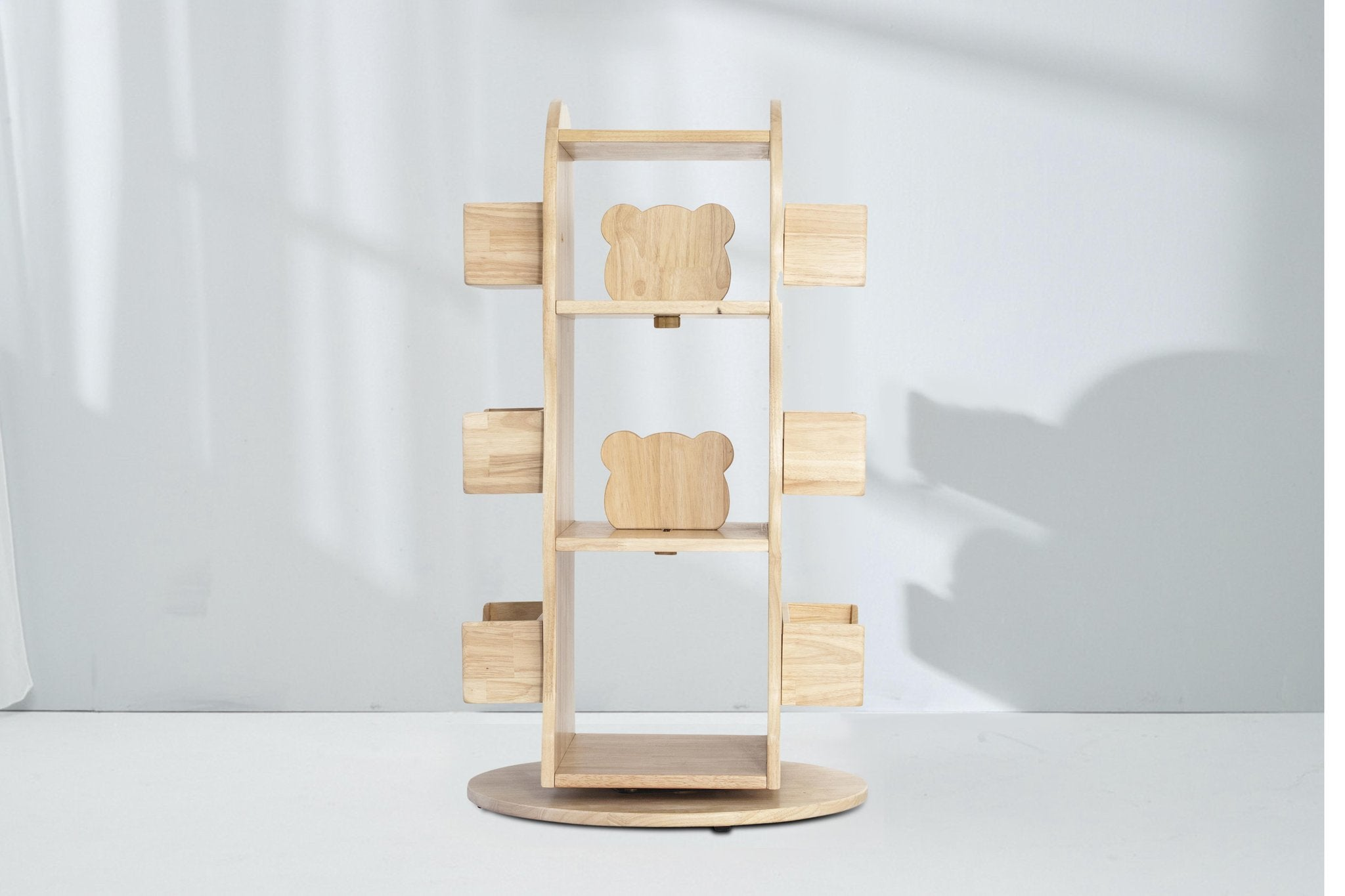 PRE ORDER - Revolving solid Wooden Bookcase Bookshelf - Aus orders only