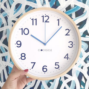 Kids Navy Blue Clock