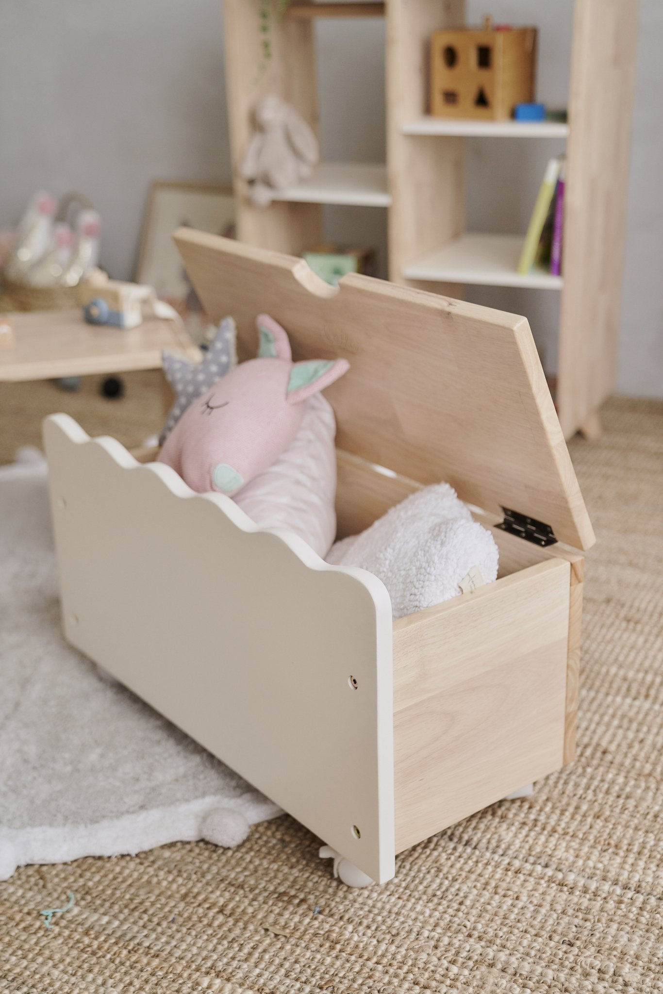Toy Storage unit with bench