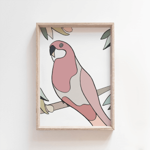 Rosie Rosella - A4, A3, A2 -DAWN COLOURWAY