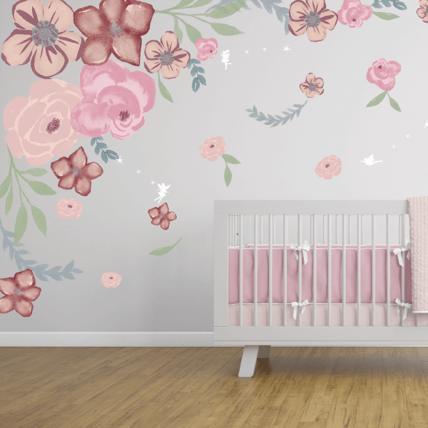 Secret Garden Floral Wall Decals