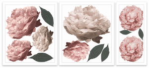 Wall Decals – The Dusty pink Peonies - HALF PACK