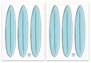 Surfboard Wall decals