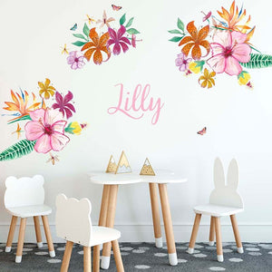 Ready to go Jungalow Decals - Tropical Flowers set