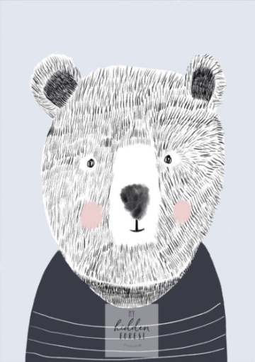 Teddy the bear - Fine Art Print