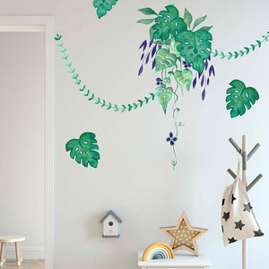 Cut and stick Jungalow Decals - Tropical Greenery Set